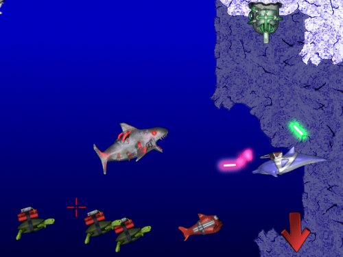 Outwit and destroy bizarre sea creatures.
